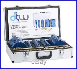 11 Piece Professional Platinum Dry Diamond Core Kit / Set