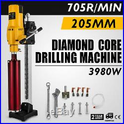 205mm Diamond core Drill Wet & Vacuum core Drilling Rig Stand & Drilling bits