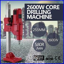 2 Speed Core Drilling Unit Diamond Driller 2600W 10 Detection Concrete POPULAR