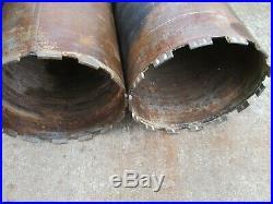 2 X 200mm Wet Diamond Drilling Core 1 1/4 Unc Back End