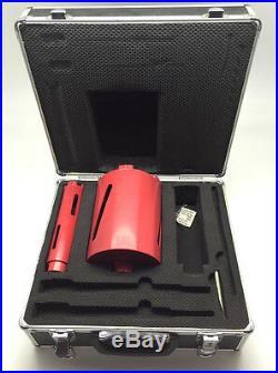 2 x Diamond Core Drill Bits 117mm & 38mm 1/2 BSP Brick Concrete Free Case