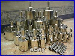 3mm (1/8) 125mm (5) THK Diamond coated hole saw core drills drill bit 43 pcs
