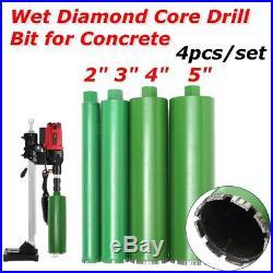 4Pcs/Set 2''/ 3''/ 4''/ 5'' Wet Diamond Core Drill Bit for Concrete Stone Rock