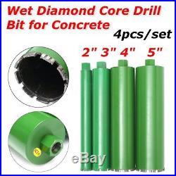 4 Pcs/set 2'' 3'' 4'' 5'' Combo Wet Diamond Core Drill Bit for Concrete Premium