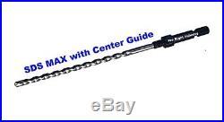 Bosch SDS Max Hammer drill 3 Dry Diamond Core Bit for Concrete with Center Guide