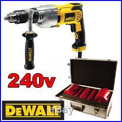 DeWalt D21570k Diamond Core Drill C/W Abracs 5 Piece Core Drill Set 240v