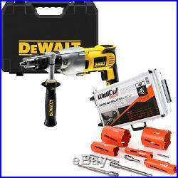 Dewalt D21570K 2-Speed Dry Diamond Core Drill 240V + 11Pc Diamond Core Drill Set