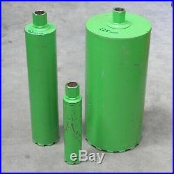 Diamond Wet Core Cutter Drill 65mm, 107mm & 225mm Female Fitting 1.1/4 UNC. New