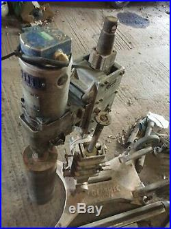 Gearmec Diamond Core drill 110V comes with bases 2 long rails and various cores