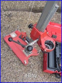 HILTI DD100 Diamond core drill 110v & Hilti Vacuum core drilling rig stand vac