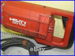 HILTI DD100 Diamond core drill 110v drilling machine 3 speed heavy duty