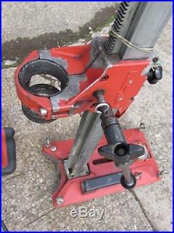 HILTI DD100 Diamond core drill 110v wet & Hilti Vacuum core drilling rig stand