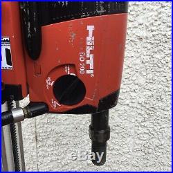 HILTI DD200 3 Speed Diamond core drill Motor wet 110v coring machine And Stand