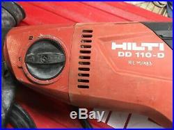 Hilti DD110 D Core Drill Diamond Drilling 110V Wet Drill. 2038