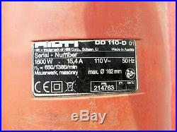 Hilti DD110-D Diamond Coring Drill, 110V, 2 Speed Core Drill with Carry Case