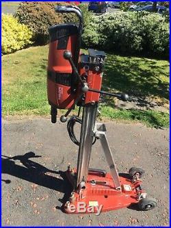 Hilti DD200 Diamond Core Drill With Drilling Rig Wet Coring 110V Vacuum GWO