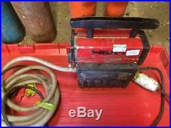 Hilti DD 100 Diamond Wet Core Drill, Stand, Vacuum Pump & Cores See Pics