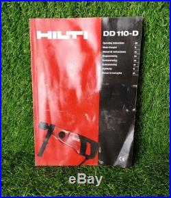Hilti DD 110 D Diamond Core Drill 110v GWO FREE P&P!'186