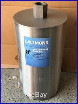 Lackmond 8-Inch Wet Cured Concrete Diamond Core Drill Segmented Bit 1-1/4-7