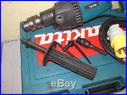 MAKITA 8406 110v Diamond core drill in case + new 1/2 adaptor hand held coring