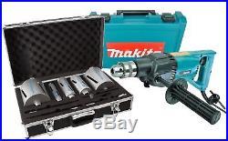 Makita 8406 Diamond Core Drill Rotary & Percussion 110V + 11pc Diamond Core Kit