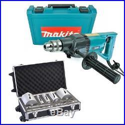 Makita 8406 Diamond Core Drill Rotary Percussion 240V + 10 Piece Core Set + Case