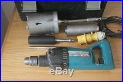 Makita 8406 diamond core drill 110v with cores