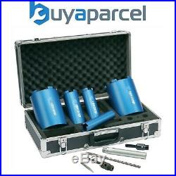 Makita P-74712 10 Piece 5 CORE Diamond Core Set for Granite Marble + Metal Case