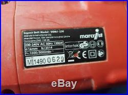 Marcrist DDM1-230 1200w Handheld Diamond Core Drill 230V in Case
