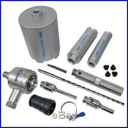Mexco DCX90 9 Piece Dry Diamond Core Drill Bit Set With Extraction Unit NEW
