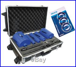 Mexco DCXCEL 11pc Professional Laser Welded Dry Diamond Core Drill Bit Set Kit