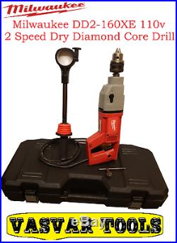 Milwaukee DD2-160 XE 110v 2 Speed Dry Diamond Core Drill