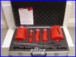 NEW ARMEG 11 Piece Dry Diamond Core Drill Bit Set +Case Sizes 42,52,65,117,127mm