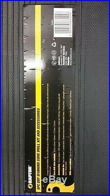 RAPTOR 5 Piece Dry Diamond Core Drill Bit Set Kit Boiler Flue Soil Pipe