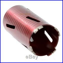 RED TEN Dart 10 Piece Dry Diamond Core Drill Kit/Set, Adaptors & Case, DB00880