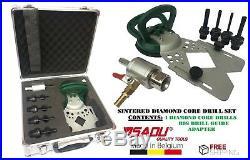 Sadu Sintered Diamond Core Drill Bit Set, Vacuum Holesaw / Drill Guide & Adaptor