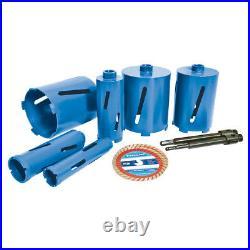 Silverline Diamond Core Drill Kit 6-Core 12pce 427650