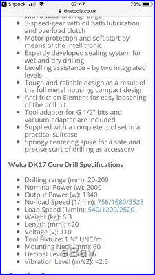 Weka dk17 core drill Diamond drilling